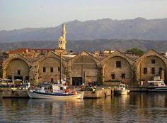 Χανιά Κρήτης, Νεώρια. Crete Greece, Europe Travel Tips, Greek Islands, Crete, Greek Isles