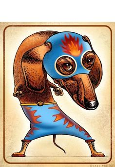 El Perro Caliente The Hot Dog by ChetArt on Etsy