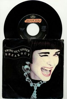 """SWING OUT SISTER- BREAKOUT- USED 45 RPM 7"""" VINYL SINGLE  http://www.ebay.com/itm/SWING-OUT-SISTER-BREAKOUT-USED-45-RPM-7-VINYL-SINGLE-1986-MERCURY-888016-7-/192032786508  #swingoutsister #music #eighties #45rpm #vinylcollection #vinyloftheday #ilovevinyl #recordcollection #turntable #sleeves"""