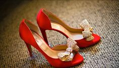 Increíbles zapatos de novias   Color pasión Rojos