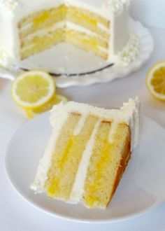 Cake Triple Lemon Cake ~ aside from lemon drop martinis ~ LOVE lemon cake ! Must make this soon !Triple Lemon Cake ~ aside from lemon drop martinis ~ LOVE lemon cake ! Must make this soon ! Lemon Desserts, Lemon Recipes, Just Desserts, Sweet Recipes, Dessert Recipes, Lemon Cakes, Coconut Cakes, Lemon Curd Cake, Vanilla Cake