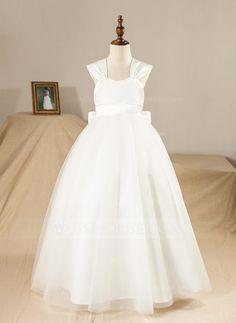 e45f704f3ab  US  49.99  Ball Gown Floor-length Flower Girl Dress - Satin