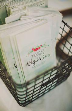 modern wedding programs, photo by Ariel Renae… Wedding Signage, Wedding Menu, Red Wedding, Fall Wedding, Wedding Planning, Wedding Photos, Wedding Ideas, Wedding Booklet, Modern Wedding Program