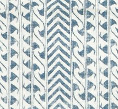 Luxor Indigo on Oyster from Lisa Fine Textiles #fabric #linen #blue