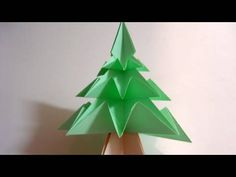 Origami Christmas Tree (Pine Tree) - Pretty cool.  Something for kids to try.