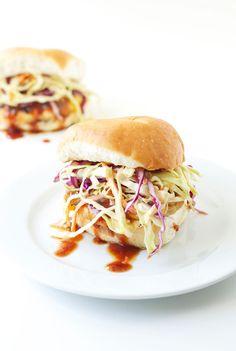 BBQ Turkey Burgers with Chipotle Slaw