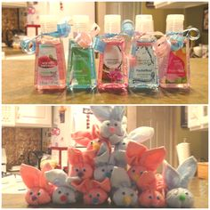 Baby Shower Favors : PocketBacs and Boo Boo Bunnies