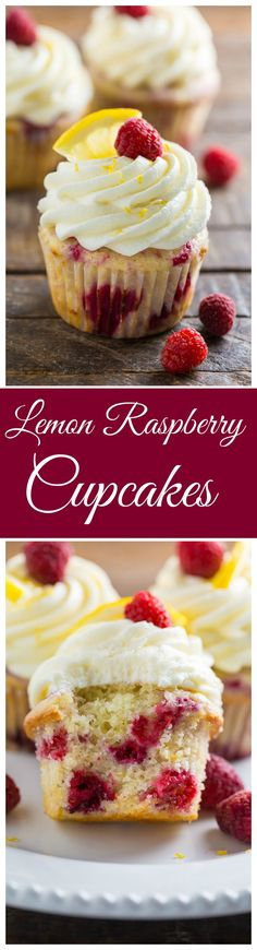 Lemon Raspberry Cupcakes are moist, fluffy, and flavorful!!!