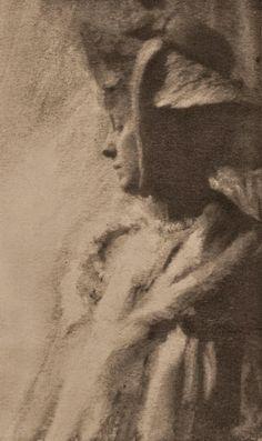 Portrait Study, 1902 (photogravure)  Photographer: Robert Demachy, Paris