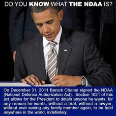 FLASHBACK: Obama Signs NDAA Martial Law Video: http://www.youtube.com/watch?v=zNvtKKM902w