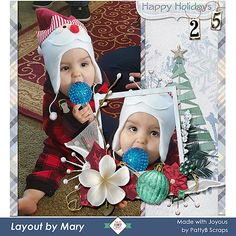 Oh, what a precious moment. Mary used Joyous to scrap her grandson opening his stocking on his first Christmas morning, Decmebr 2015. Joyous Collection by Patty B Scraps  which is ON SALE 30% to 60% until December 11.