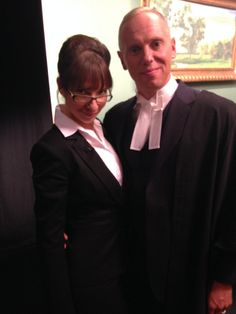 Michelle & Judge Ringer behind the scenes.