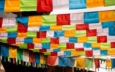 Prayer Flags - Prayer Flags are left up until the flag has worn away and the prayer taken away by the wind.
