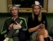 """Sue Sylvester and Holly Holiday enjoy """"Hoarders"""" together."""