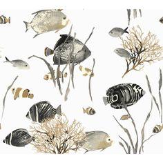 60.75 sq. ft. Tropics Tropical Reef Wallpaper,