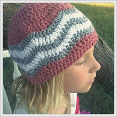 This Chevron Hat Pattern using @Brittany Prater Brand is AMAZING... I heart it!!! Pattern on @Craftsy on Pinterest