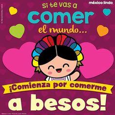 #mexicolindo #mexico #amor #14defebrero #diadelamor #kawaii #sonrisas #sanvalentin #nori #oaxaqueña #besos
