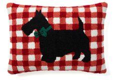 Scottie Dog 12x16 Pillow, Red