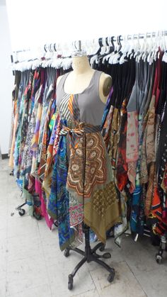 Paper People Clothing: upcycled, reclaimed vintage scarf dresses