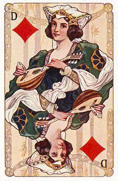 #PlayingCardsTop1000 - Gewaendern - Queen of diamonds