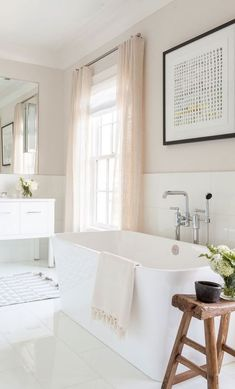 trendy pastel bathroom design idea #masterbathroomremodel