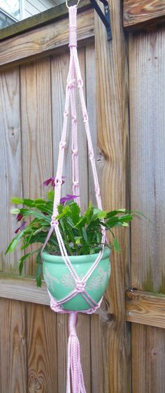 Macrame Plant Hanger  Pretty in Pink by MacrameGarden on Etsy, $34.00