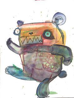 Everybody Do the Stress http://ift.tt/2k8PKEj Art watercolor acrylic doodle art painting artistsoftumblr watercolor