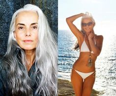 aging gracefully Stunning grandmother and top model Yasmina Rossi reveals her secrets to looking younger - and you can find most of these in your pantry! Beautiful Women Over 50, Beautiful Old Woman, Beautiful People, Beautiful Pictures, Women 40 Years Old, 60 Year Old Woman, Yasmina Rossi, Moda Paris, Ageless Beauty