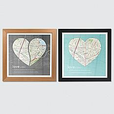 Blueprint destination map definition of love map wall art malvernweather Image collections