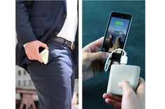 AMPY, The Backup Battery Powered By Your Movement - http://www.gadget.com/2014/10/17/ampy-backup-battery-powered-movement/ ampy, backup battery, kick starter, kinetic energy, power bank
