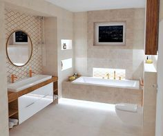 """INGEMA s.r.o. on Instagram: """"@tubadzin METEOR kde dekor je s bronzom a k tomu sa hodia baterie @grohe_global ESSENCE  tiez v bronzovom prevedeni / vizualizácia ✍🏻🚿🛁…"""" Alcove, Bathtub, Bathroom, Instagram, Houses, Standing Bath, Washroom, Bathtubs, Bath Tube"""