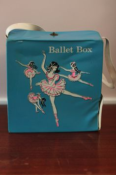 I haven't seen these in 30+ years!! My little sister and I used to have one each-tap shoes went in the top, ballet shoes in the bottom. Ours were pink vinyl though! =)