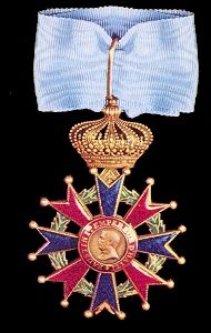 The Order of the Cross of St Faustin: Commander, neck badge - obverse (L) and reverse (R).
