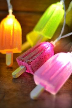 Ice Lolly light string- perfect for birthday parties or summer weddings!