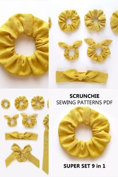 Diy Hair Scrunchies, Diy Hair Bows, Easy Sewing Projects, Sewing Projects For Beginners, Idee Diy, Creation Couture, Diy Headband, Sewing Dolls, Diy Hair Accessories
