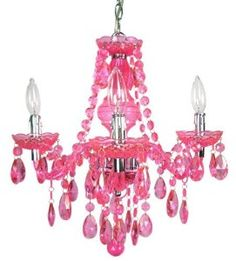 Gypsy hanging chandelier.... this is similar to what I want to do for my granddaughter's.  But it would be battery operated lights, birds or simply large faux gemstones.