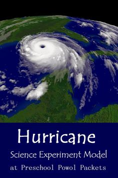 Hurricane Science Experiment Model! Great for preschoolers!