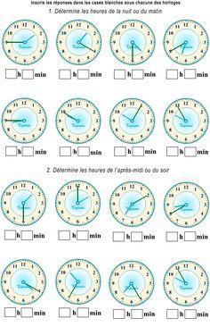 GM5 (CE2) - Lire l'heure 1 | Ce1, L'heure et Lire l heure ce2