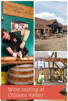 Wine tasting at Chiltern Valley Winery, in the United Kingdom