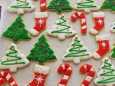 Christmas Sugar Cookie Decorating Ideas Beautiful Galletitas Navide±as Riquisimas – badt. Easy Christmas Cookies Decorating, Christmas Tree Cookies, Iced Cookies, Holiday Cookies, Cookie Decorating, Decorating Ideas, Snowflake Cookies, Christmas Decorations, Christmas Deserts