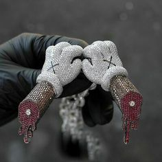 Beautiful Design With Multi Gemstones Gloves & Bones Arms & Dripping Men Pendant Luxury Jewelry, Custom Jewelry, Tatuagem Uv, Rapper Jewelry, Jewelry Accessories, Jewelry Design, Expensive Jewelry, Minions, Sterling Silver Jewelry