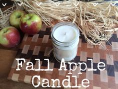 Hey, hey!Here's another easy fall candle recipe to add to your collection! Apples and cinnamon are the perfect combination for a seasonal home fragrance, don't you think? Just by lighting a candle your entire house smells like you've been baking pie all day (without the work and without the calories!). I love pie. And I love candles. So of course, this recipe is a favorite of mine.I'm pretty sure you'll love it too ☺You'll need:Wax (I used EcoSoya CB-Advanced Soy Candle Wax)Mason JarCandle…