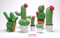 Simpáticos cactus al crochet ☼₪☼₪☼₪☼₪