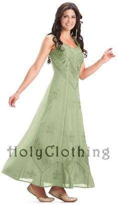 Ena Empire Waist Renaissance Gothic Long Sun Dress XL 1X - XL / 1X - Shop by Size - Dresses