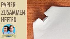 Papiere heften ohne Klammern I Ohne Tacker tackern I Schnellhefter-Trick