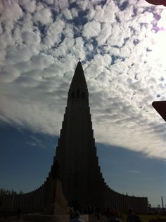 The sky....there's just something about the sky.   Hallgrímskirkja. 13 Aug. 2014  Photo by: Tammy Jónsson