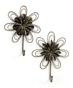 Another great find on #zulily! Iron Flower Wall Hook Set by Giftcraft #zulilyfinds