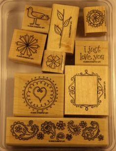 Stampin' Up! – Double-Line Doodles Wood Stamp Set