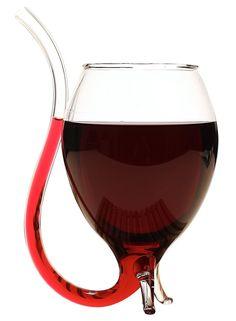 Vaso Copa De Cristal Modelo Vampiro Ideal Para Vino Tinto