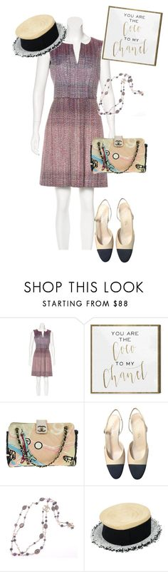 """dress"" by masayuki4499 ❤ liked on Polyvore featuring Chanel and Oliver Gal Artist Co."
